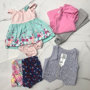 Bundle baby girl outfits bottoms vest